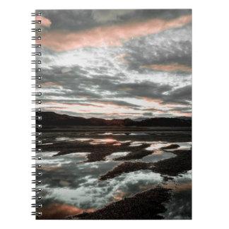 Sunrise reflections at Lago Grey. Torres del Spiral Notebook