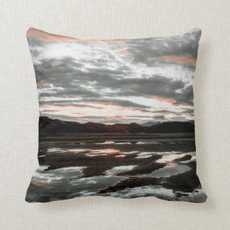 Sunrise reflections at Lago Grey. Torres del Throw Pillow