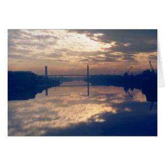 Sunrise, River Usk, Newport, Mon. November 1977 Card