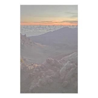Sunrise rocky scenery stationary paper stationery