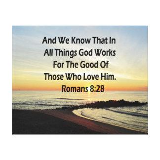 SUNRISE ROMANS 8:28 SCRIPTURE VERSE CANVAS PRINT