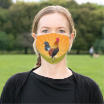 Sunrise Rooster Design Face Mask