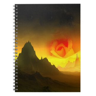 Sunrise rose notebook
