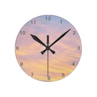 Sunrise Round Clock