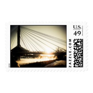 Sunrise Saint Boniface Bridge 01 Postage
