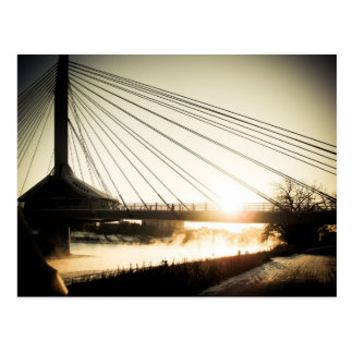 Sunrise Saint Boniface Bridge 01 Postcard