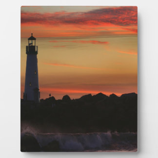 Sunrise Santa Cruz Lighthouse Photo Plaque