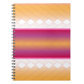 Sunrise Scale with Diamonds Notebook