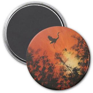 """""""Sunrise Scene"""" Large Round Magnet"""