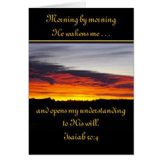 Sunrise Scripture Customized Greeting Card
