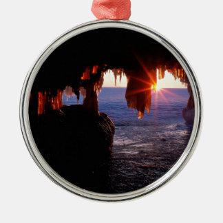 Sunrise Sea Caves Apostle Islands Wisconsin Metal Ornament