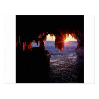 Sunrise Sea Caves Apostle Islands Wisconsin Postcard