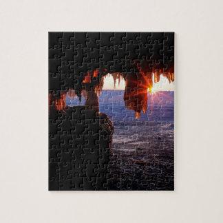 Sunrise Sea Caves Apostle Islands Wisconsin Puzzle