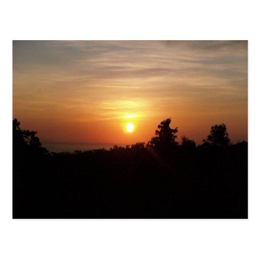 sunrise @ senaru postcard