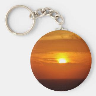 Sunrise Sensation Basic Round Button Keychain