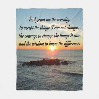 SUNRISE SERENITY PRAYER FLEECE BLANKET