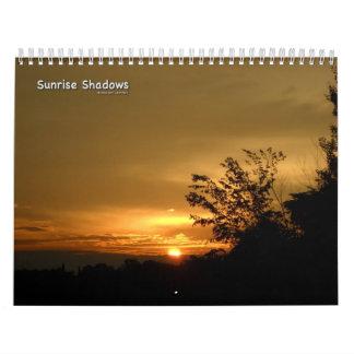 Sunrise Shadows Wall Calendar