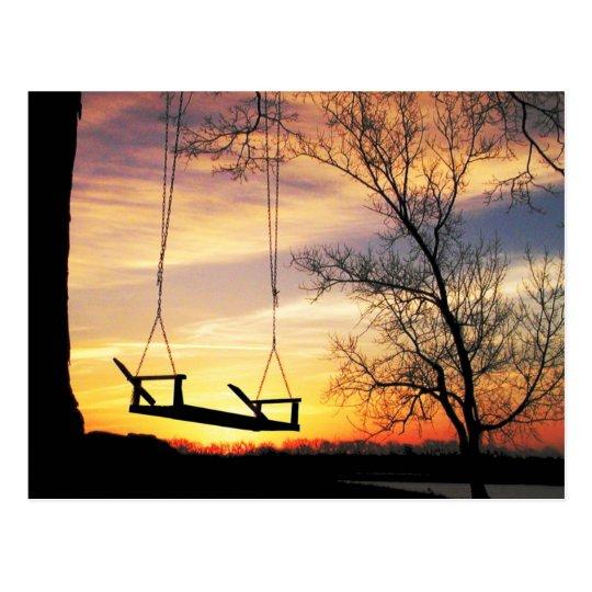 Sunrise silhouette postcard