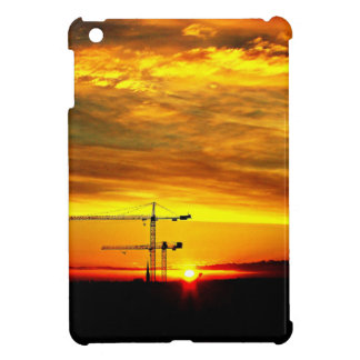 Sunrise silhouetting Cranes iPad Mini Cover