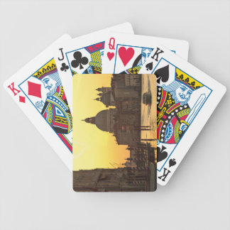 Sunrise sky colors near San Maria Del Giglio Bicycle Playing Cards