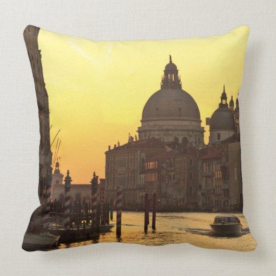Sunrise sky colors near San Maria Del Giglio Throw Pillow