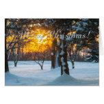 Sunrise & Snow Christmas Card