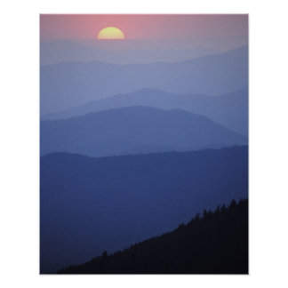 Sunrise, Southern Appalachian Mountains, Great Poster