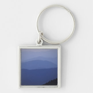 Sunrise, Southern Appalachian Mountains, Great Silver-Colored Square Keychain