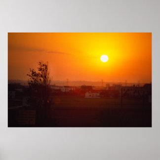 Sunrise, Spanish Village Poster