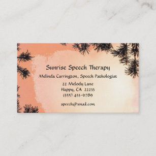 Speech therapy business cards templates zazzle sunrise speech therapy business card colourmoves