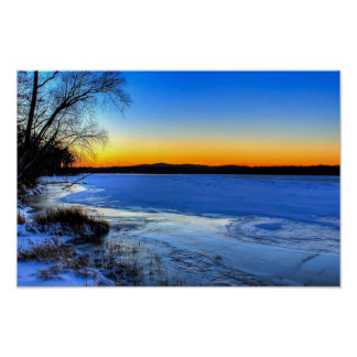 Sunrise Spring Thaw Poster