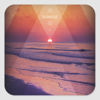 Sunrise Square Sticker