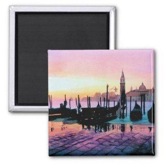 """Sunrise St. Mark's"" Gondola Watercolor Magnet"