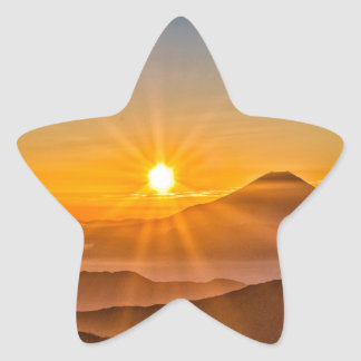 Sunrise Star Sticker
