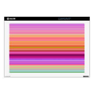 "Sunrise Stripes Decals For 17"" Laptops"