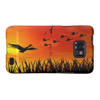 Sunrise sun ducks fliyng CaseMate Samsung Galaxy SII Cases