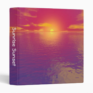 Sunrise Sunset (1in) 3 Ring Binder