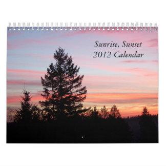 Sunrise, Sunset 2012 Calendar