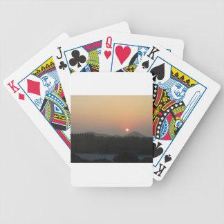 Sunrise  Sunset Bicycle Playing Cards