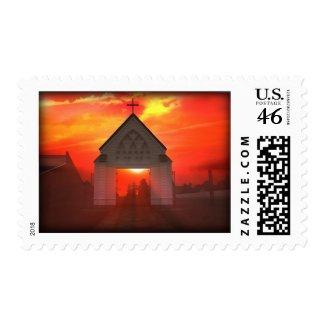 Sunrise/Sunset Church stamp
