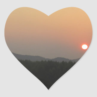 Sunrise  Sunset Heart Sticker