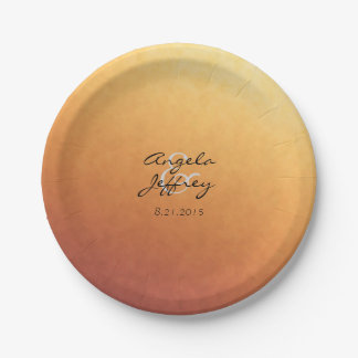 Sunrise Sunset Ombre Gradient Paper Plate
