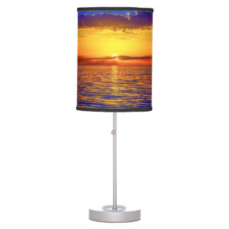 Sunrise/Sunset on Ocean Desk Lamp
