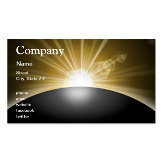 Sunrise Sunset Planet Business Card