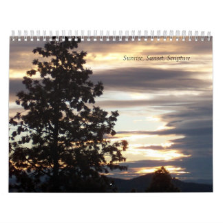 Sunrise, Sunset, Scripture Any Year Calendar