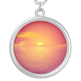 Sunrise Sunset Silver Plated Necklace
