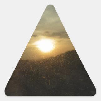 Sunrise  Sunset Triangle Sticker