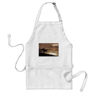 Sunrise surfer adult apron