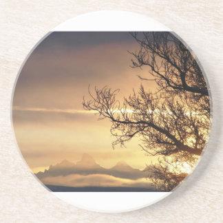 Sunrise Teton Mountains Drink Coasters