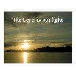 Sunrise - the Lord is my light Postcard
